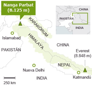 NangaParbat_location
